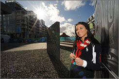 Allison Baver and other American athletes are staying within the plush confines of the Olympic Village.