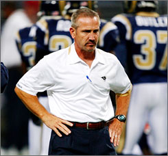 Rams coach Steve Spagnuolo went 1-15 in his first season in St. Louis.