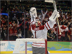 But fans have had plenty to celebrate since Roberto Luongo was inserted in net after the USA's win against Canada. He has won three in a row and is 4-0 in the tournament.