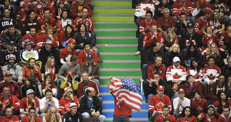 Canadian fans were more subdued when the USA won 5-3 on Feb. 21. But the atmosphere is expected to be electric on Sunday.