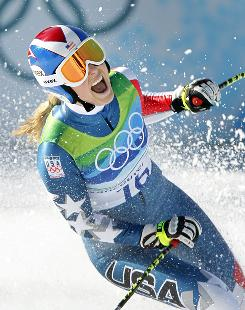 Lindsey Vonn captures the gold medal in the women's downhill on Feb. 17 in Whistler, one of a Winter Games record 37 total medals for the USA at the Vancouver Games.