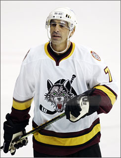 The Thrashers signed Chris Chelios, 48, with the hopes he clears waivers and can be used for the team's playoff drive.