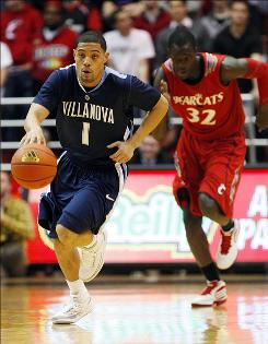 Villanova guard Scottie Reynolds scored all of his 17 points in the second half of Tuesday's 77-73 victory.
