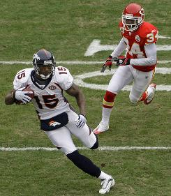 Brandon Marshall had the moves for the Denver Broncos against the Kansas City Chiefs last season.