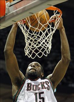 The Bucks' John Salmons dunks the ball against the Washington Wizards in the second half on March 3. The Bucks won 100-87. Salmons and the Bucks are hot lately, winning nine of their last 10 games.
