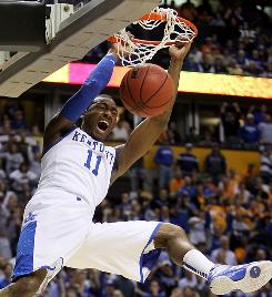 Dick Vitale sees freshman John Wall and the Kentucky Wildcats cutting down the nets in Indianapolis after marching to the school's first national title since 1998.