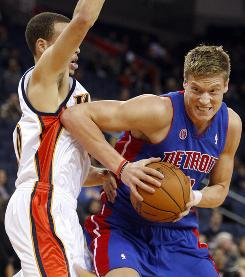 Jonas Jerebko, who grew up in Sweden, is averaging 9.3 points in his rookie season for the Pistons.