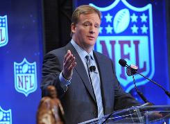 NFL commissioner Roger Goodell and the league's owners will gather in Orlando for their annual meetings this week.