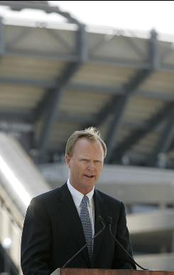 "Shown here in this 2007 file photo, New York Giants President and CEO John Mara says ""there's too much at stake"" for players and owners not to reach a new collective bargaining agreement."