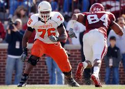 Oklahoma State's Russell Okung may be the first offensive tackle selected in April's NFL draft.