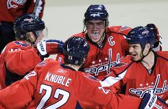 The Capitals have been doing the celebrating this season, improving to 3-0 on Mike Knuble's tie-breaking shootout goal Wednesday night.
