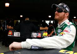 Dale Earnhardt Jr. ranks eighth in Sprint Cup standings after five races, 153 points behind leader Kevin Harvick.