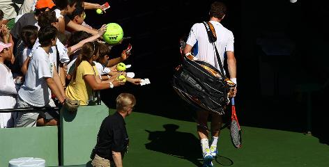 Andy Murray of Scotland walks of the court after losing to Mardy Fish of the USA in the second round of the Sony Ericsson Open in Key Biscayne, Fla. Murray said after the loss that he is struggling mentally right now.