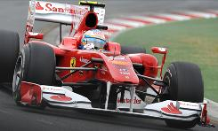 Ferrari driver Fernando Alonso of Spain leads after two races and is going for his third Formula One title.