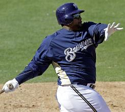 The Milwaukee Brewers' Prince Fielder drives in plenty of runs. He led the National League with 141 in 2009.
