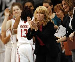 """""""It's like being invited to an incredible feast and then they take your utensils away,"""" Oklahoma coach Sherri Coale said of reaching the Final Four three times but not winning the national title. """"We're still hungry."""""""