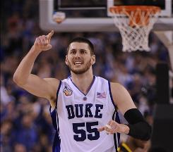 Brian Zoubek and the Duke Blue Devils are going to the national championship game.