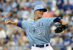 Cy Young award winner Zach Greinke allowed six hits and one earned run through six innings and departed with the lead before the Tigers rallied against the Royals bullpen.