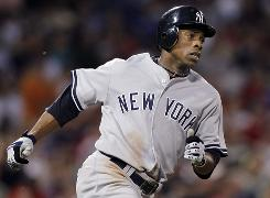 Curtis Granderson snapped a 10th-inning tie with a leadoff shot off Red Sox closer Jonathan Papelbon as the Yankees won 3-1.
