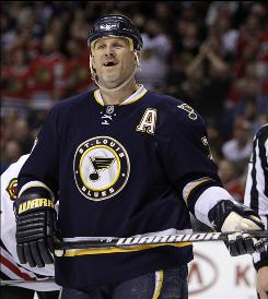Keith Tkachuk has 1,063 points on 538 goals and 525 assists and 2,219 penalty minutes in his career.