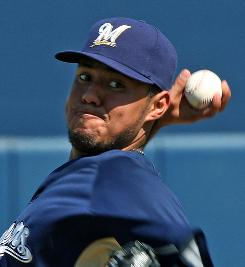 Yovani Gallardo, who opened for the Brewers, was 13-12 with a 3.73 ERA in 30 starts last season.
