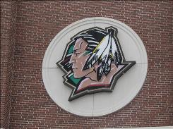 "North Dakota's logo, featured outside on the school's Ralph Engelstad Arena, and Fighting Sioux nickname are considered ""hostile and offensive"" by the NCAA."