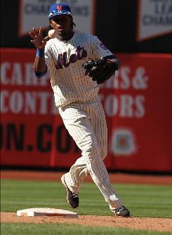 All-Star shortstop Jose Reyes returned to the Mets lineup for the first time since May 20, going 1-for-4.