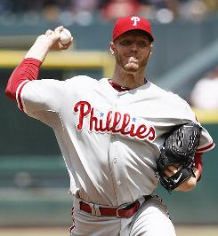 Roy Halladay pitches his 50th career complete game and first with the Phillies.