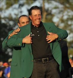 Phil Mickelson helped CBS Sports continue its ratings winning streak.