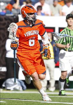 Virginia's Steele Stanwick scored three goals and an assist as the Cavaliers broke in the new Meadowlands Stadium in East Rutherford, N.J., home of the NFL's New York Giants and Jets.