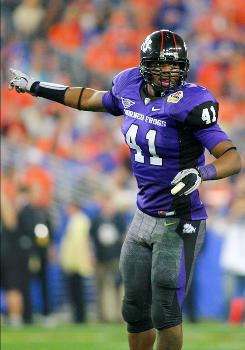 TCU linebacker Daryl Washington led the Horned Frogs with 109 tackles, 11 for loss, two sacks and three interceptions in 2009.