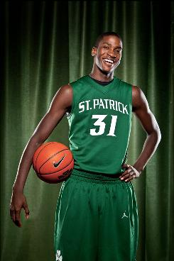 St. Patrick's boys basketball player Michael Gilchrist on Nov. 3, 2009, at St. Patrick's High School in Elizabeth, N.J.