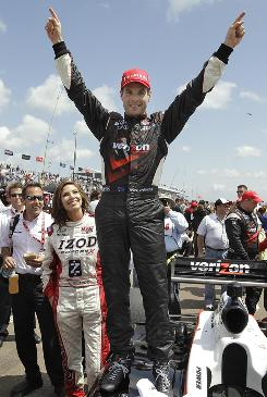 Will Power, 29, who was hired to substitute for Helio Castroneves while he was on trial, is leading the IndyCar standings after being hired full time by Team Penske.