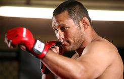 Dan Henderson, above, will fight champion Jake Shields for the Strikeforce middleweight title Saturday in Nashville. The card features three title bouts.