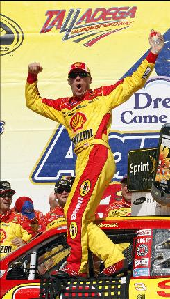 Kevin Harvick, celebrating in victory lane after winning the Aaron's 499, hadn't won a Sprint Cup Race since the 2007 Daytona 500.