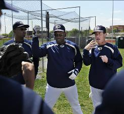 "Gllaudet baseball coach Curtis Pride, 41, the only deaf player to reach the majors in the modern era, says about his program, ""We can do something special here."""