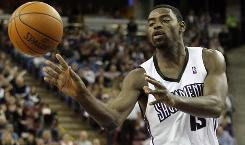 Kings guard Tyreke Evans led all NBA rookies in scoring at 20.1 points per game this season.