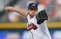 Tommy Hanson pitched eight innings to help the Atlanta Braves end their nine-game losing streak.
