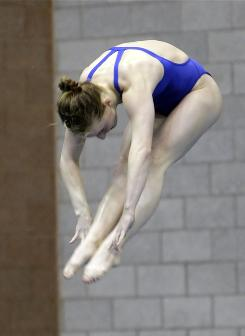 "Abby Johnston, 20, is part of the new wave of U.S. diving talent. ""People are getting stronger and able to do these dives at a younger age, so it's just created more depth,"" she says."