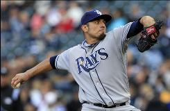 Rays starter Matt Garza, who allowed two runs in eight innings, reached five wins faster than any pitcher in Tampa Bay history.