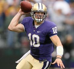 Washington's Jake Locker is one of the highest-rated 2011 NFL draft prospects, one year out from the selection meeting.
