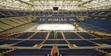 The opener of the world championships will be played in 76,152-seat Veltins Arena, a soccer venue in Gelsenkirchen.