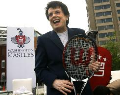 Tennis Hall of Famer Billie Jean King will be honored Saturday by Major League Baseball with an MLB Beacon Award at the Civil Rights Game in Cincinnati. In July, King's brainchild, World TeamTennis, begins its 35th season.