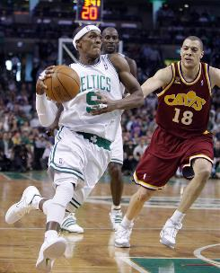 Boston point guard Rajon Rondo has been too much for some of Cleveland's defenders.