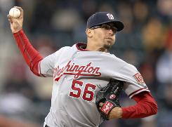 Nationals starting pitcher Luis Atilano (3-0) allowed five hits in 5 scoreless innings.