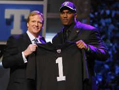 The Oakland Raiders made JaMarcus Russell the first overall pick of the 2007 draft, but would cut him just more than three years later after he won just seven games for them.
