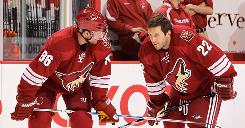 The Coyotes will need to increase the payroll to re-sign restricted free agent Wojtek Wolski, left, and unrestricted free agent Lee Stempniak.
