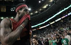 LeBron James walks off the court after his Cavaliers were eliminated in Game 6 in Boston.