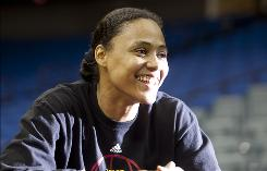 Marion Jones is starting her pro basketball career with the Tulsa Shock, seven years after she was picked in the third round of the WNBA draft.