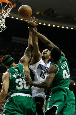 Vince Carter and the Orlando Magic ran into a swarming Boston Celtics defense in Game 1 of the Eastern Conference finals.